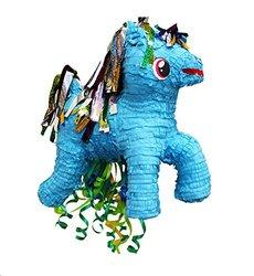 Blue Pony Pull String Pinata