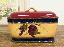 Colorful Grapes Bread Box