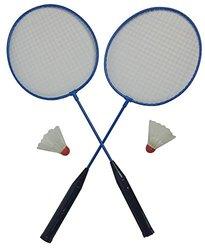 Outdoor Badminton Set Rackets and Birdies (Blue)