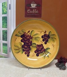 ACK Tuscany Grape Large Pasta Bowl Serving Wine Tuscan