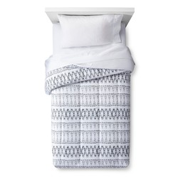 Room Essentials Comforter Set Global Stripe - White - Size: X-Large/Twin
