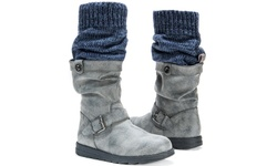 Flattering Sky Boots With Belt Wrap For Women - Gray - Size: 11