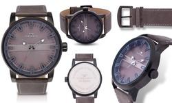 Tavan Haven Men's Classic Vintage Design Watch - Grey/Grey
