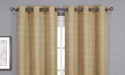 Wexley Home Textured Foamback Blackout Panel Pair- Taupe - Size: 38x84