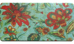 Bloomfield Oversized 20x39 Anti-Fatigue Kitchen Mat - Floral Print
