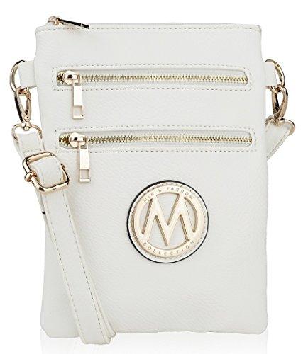 aa72491603 ... MKF Women s Millennial Arabelle Crossbody Shoulder Handbag - White ...