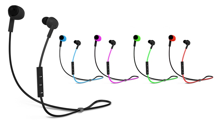 pom gear pro2go wireless bluetooth earbuds - red - check back soon