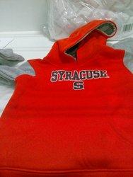 Boys' Syracuse S Printed Fleece Hooded Sweatshirt - Orange/Grey