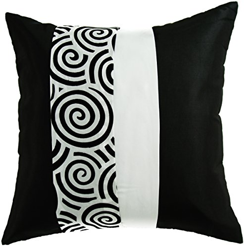 avarada striped spiral throw pillow cover decorative sofa couch cushion cover zipper 16 x 16. Black Bedroom Furniture Sets. Home Design Ideas