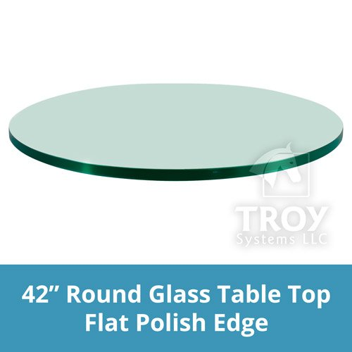 42 Round 1 4 Inch Thick Flat Polised Tempered Glass Table Top