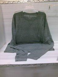 Mossimo Men's Tee Long Sleeve Tee - Gray - Size: XXXL