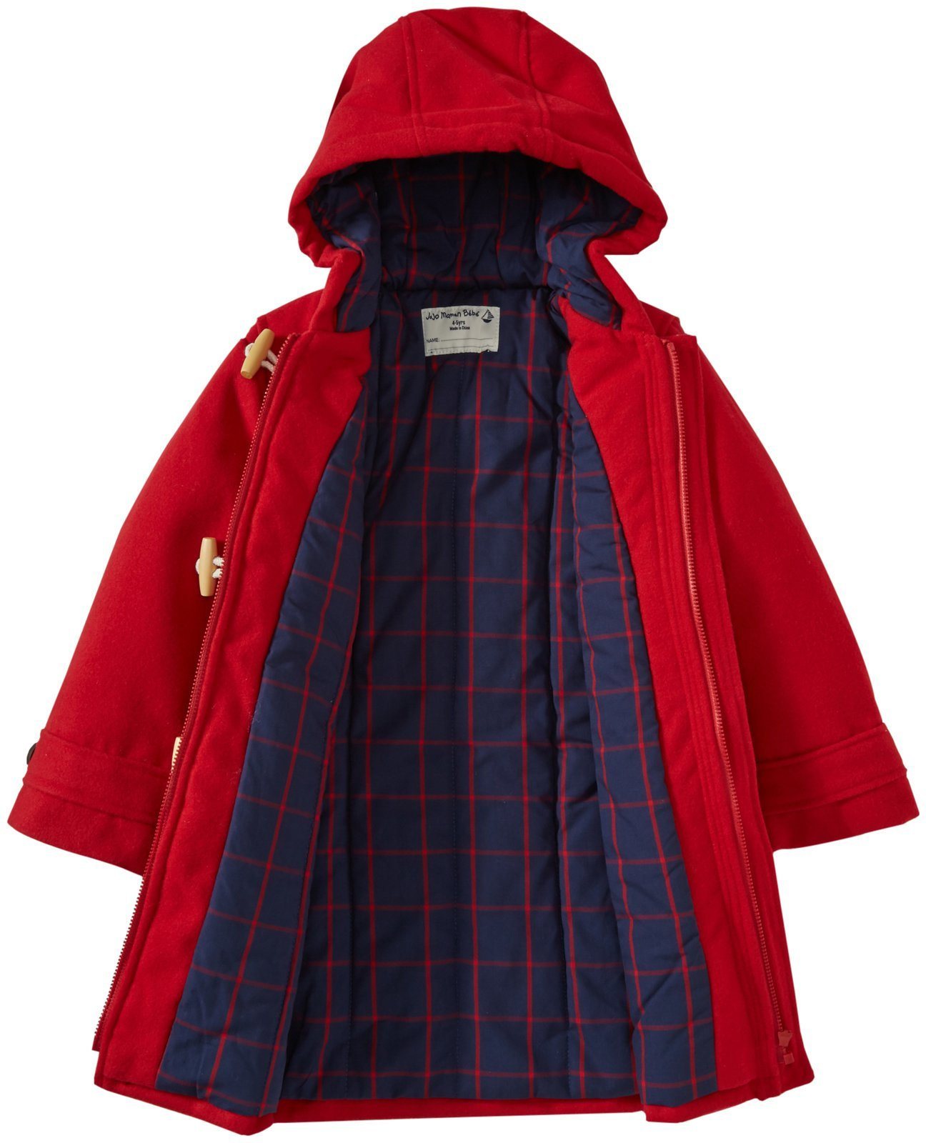 2dd73ff26f43 JoJo Maman Bebe Toddler Girls Duffle Coat - Red - Size  2-3 Years ...