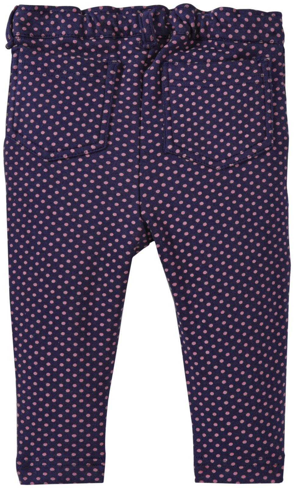 0352f5791bfb2 ... JoJo Maman Bebe Baby Girls  Dot Jersey Jeans - Navy Fuchsia - 6- ...