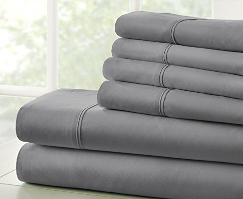Merit Linens Microfiber Bed Sheets Set   Gray   Size: Queen ...