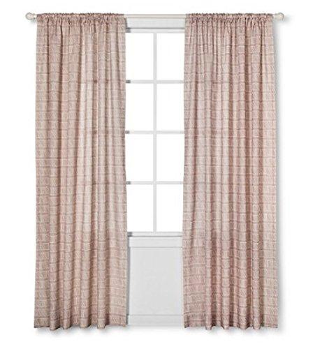 Nate berkus diagonal print sheer curtain panel neutral for Nate berkus window treatments