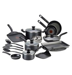 Tefal 20-Pc Dishwasher Safe Nonstick Cookware Set - Charcoal