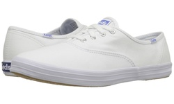 Keds Women's Champion Cotton Canvas Sneakers - All White - Size: 8.5