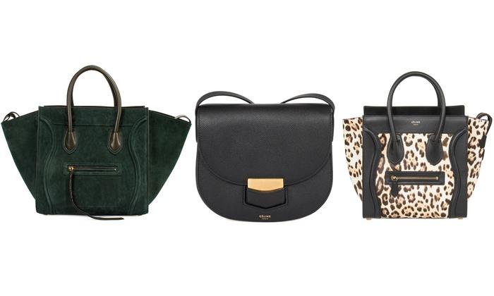 bafacc1cc ... Celine Bag: Trotteur Small Smooth Grey Calfskin Leather Crossbody ...
