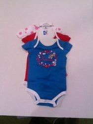 Ncaa Girls Kansas Cutie Bodysuit - Assorted - Size:6-9 Months - 3Pack