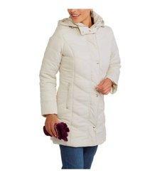 Steve Madden Women's Maxi Puffer Jacket - Ivory - Size: Small