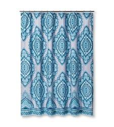 Mudhut 72x72 Medallion Pattern Curtain Shower