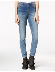 Free People Hi Roller Cropped Jeans in Light Denim - Blue - Size: 26