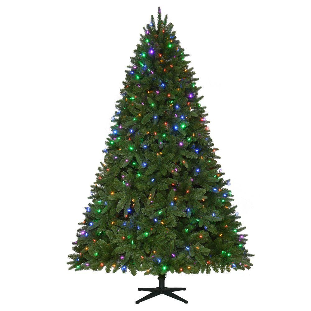 7.5ft Pre-Lit LED Sierra Nevada Quick-Set Artificial Christmas Tree ...
