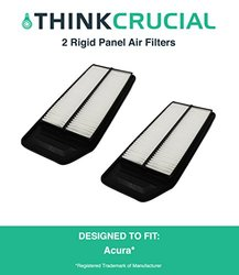 2 Premium Rigid Panel Air Filter Fits Acura TSX, Honda Accord Cars, Maximum Air Flow, 1.57 x 5.92 x 13.5 in., Part # A25503, CA9564, by Think Crucial 1292064