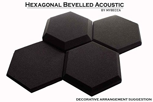 Mybecca Acoustic Panels Hexagon Bevel Foam Wall Tiles