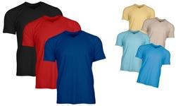 Alberto Cardinali Men's V-neck T-Shirt - Black-White-gray - Size:XL 1295013