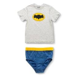 Boys' Batman Underoos Tee & Brief - Grey - Sz: 6 1292848