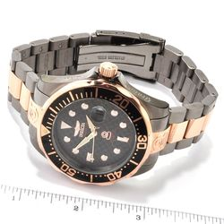 Invicta Men's Grand Diver Automatic Stainless Bracelet Watch W/ 3 Slot DC Rosetone Men's