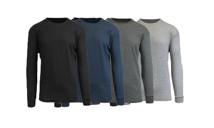2eedb035f834 Galaxy By Harvic Men s Waffle Knit Thermal Shirts - 4 pk - Multi ...