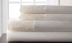 Grand Collection Queen Anne Lace 600TC Sheet Set - Ivory - Cali King