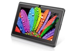 """Kocaso 7"""" Silver Tablet 8GB w/ Android OS and Protective Case (DX758)"""
