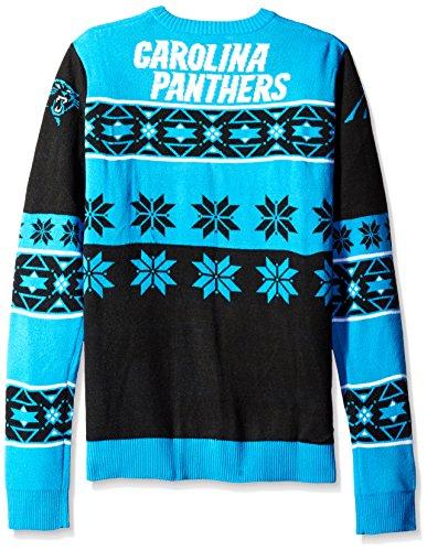 Unisex Nfl Carolina Panthers Unisex Ugly Sweater Blue Size Xl
