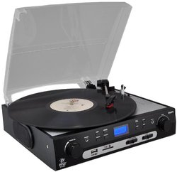 Pyle PLTTB9U Turntable with USB and SD Card Encoder