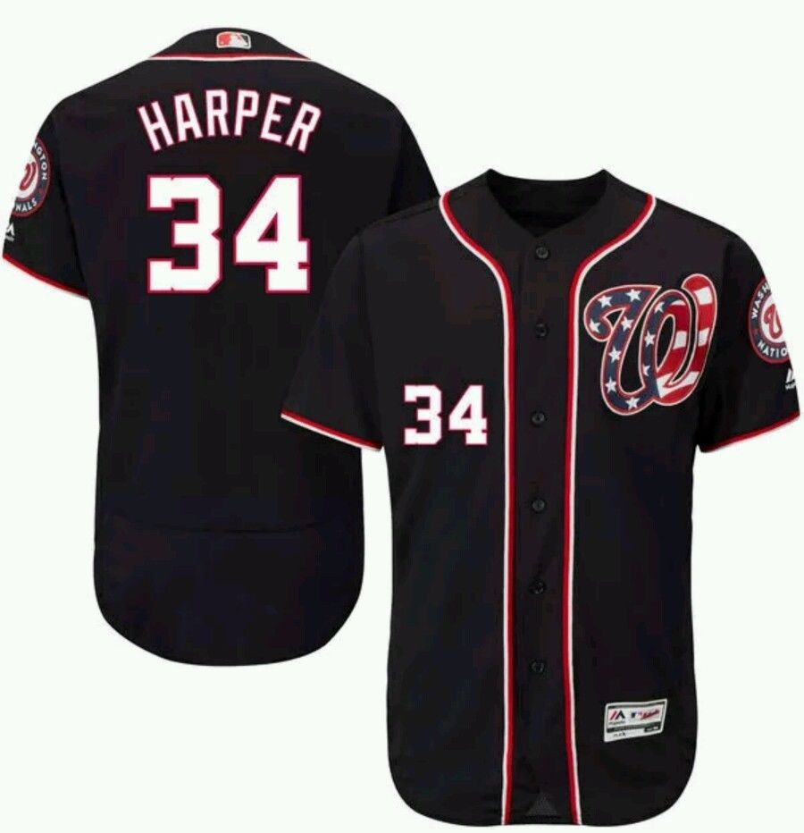 Men S Washington Nationals Bryce Harper Baseball Jersey
