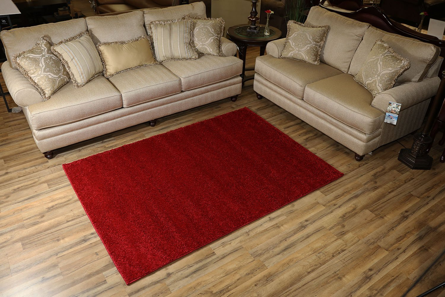 Rug Styles Soho Solid Color Shag Area Rug Rugs - Red - 5x7 ... - photo#46