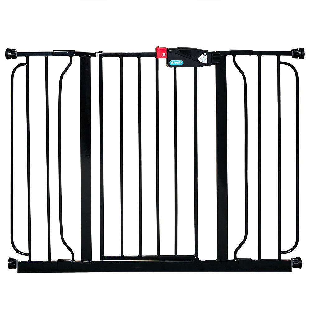 Regalo Extra Wide Baby Safety Gate Black Check Back