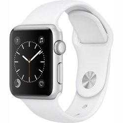 Apple Watch Series 1 38mm Smartwatch - Silver/White (MNNG2LL/A) 1308324