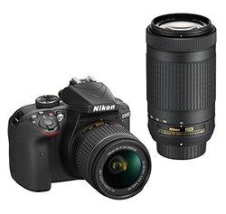 Nikon D3400 Digital SLR Camera & 18-55mm VR & 70-300mm DX AF-P Lenses