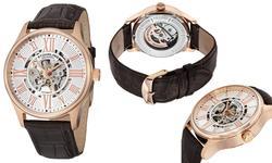 Stuhrling Original Men's Skeletonized Dress Watch - Silver Dial (GP-13070)