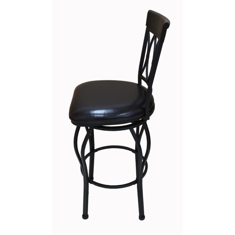 Classic Cnf1483 30 Quot Square Cushion Swivel Bar Stool Dark