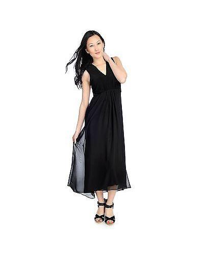 Kate Mallory Women S V Neck Woven High Low Maxi Dress Black