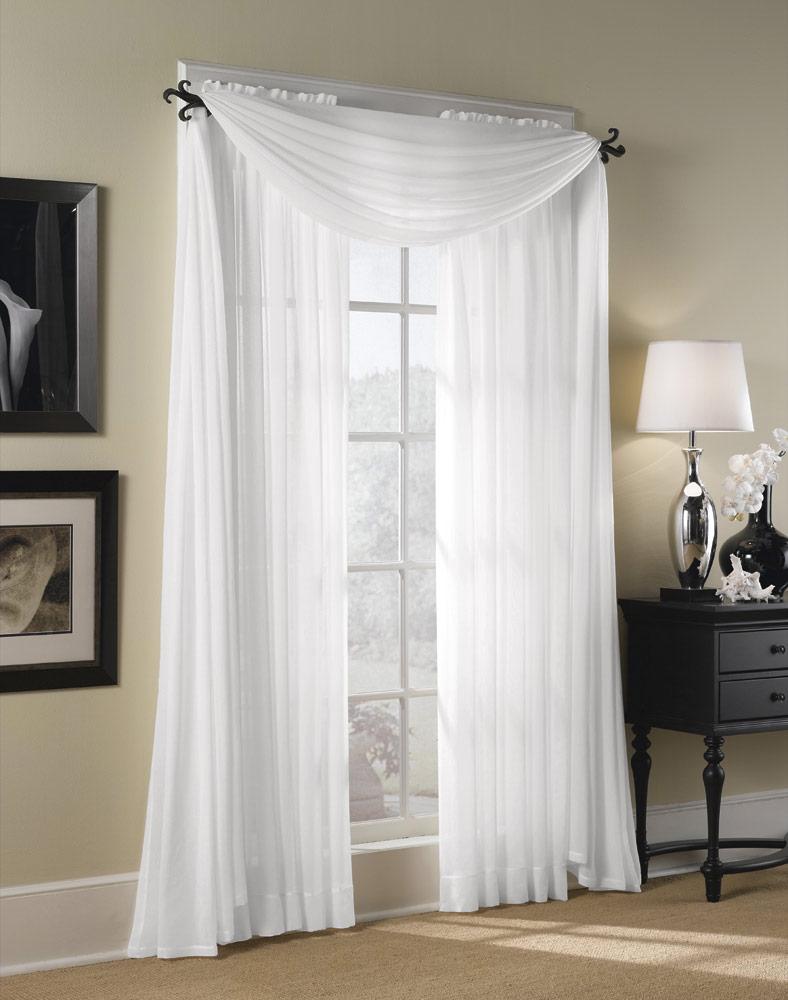 Amazing Sheer Elegance Organizer Curtain White Check