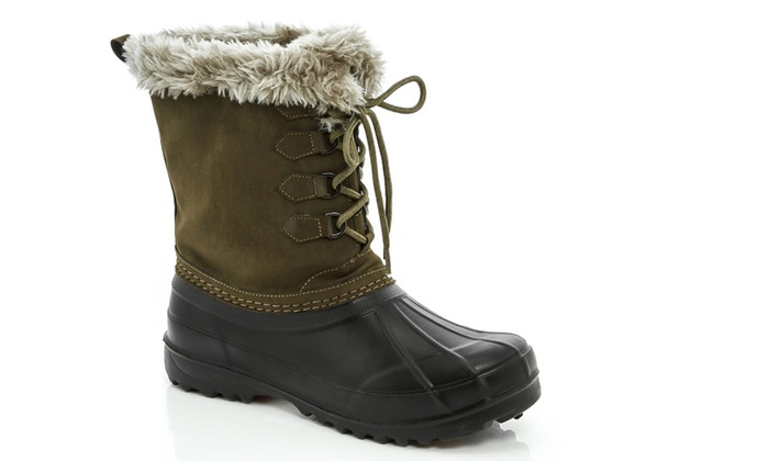 7a50566add91c Lady Godiva Women's Duck Boots - Green/Black - Size: 9