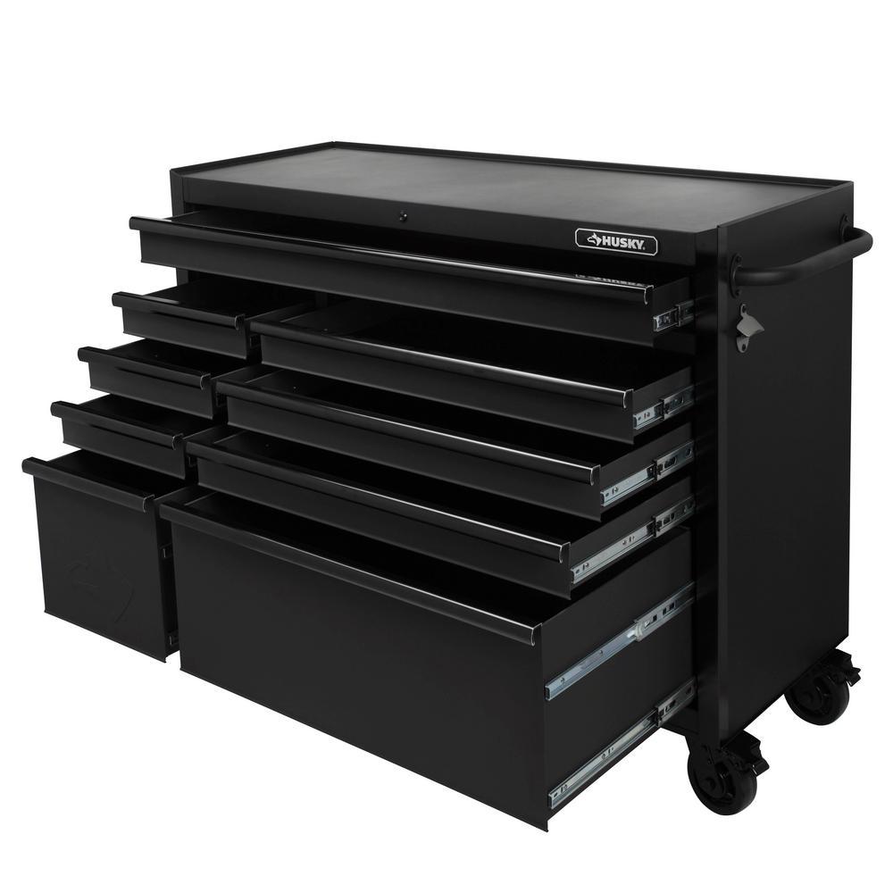 9 Drawer Tool Cabinet Textured Black Husky