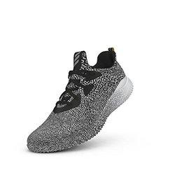 adidas Men's Alpha Bounce Running Sneakers - Black/White/Crystal - Sz: 11 1323261