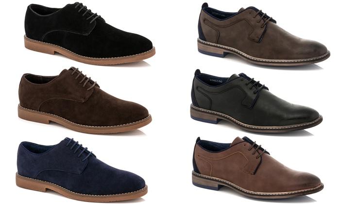 1ebcdd5812e Adolfo Men s Lace-Up Oxford Dress Shoes  Faux Leather Black - 12 ...